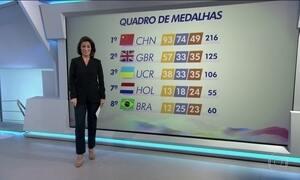 Confira o quadro de medalhas na reta final da Paralimpíada