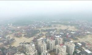 Tufão mais forte do ano provoca estragos na China e em Taiwan