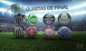 CBF sorteia os confrontos das quartas de final da Copa do Brasil