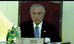 Presidente Michel Temer participa do último dia do encontro dos Brics
