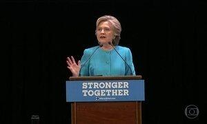 Hillary Clinton sai na frente nas pesquisas de intenção de voto