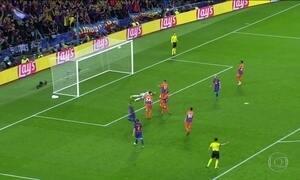 Barcelona goleia na Liga dos Campeões da Europa