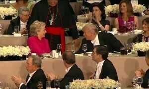 Hillary e Trump se encontram após trocarem acusações no último debate