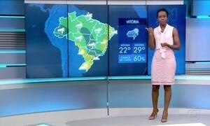 Sábado (22) será chuvoso em grande parte do Brasil