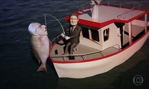 Moro se dá bem na pesca do Tirarucunha
