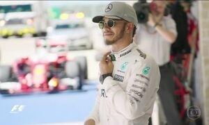 Lewis Hamilton larga na frente no GP dos EUA de Fórmula 1