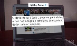 Presidente Temer divulga nota sobre acidente com avião da Chapecoense