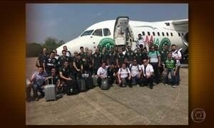 Divulgada última foto da delegação da Chapecoense antes do embarque para a Colômbia