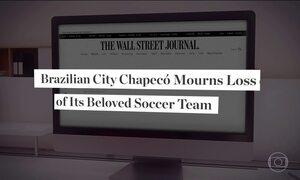 Mídia do mundo todo repercutiu o caso da queda do avião da Chapecoense