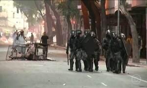 Servidores públicos entraram em confronto com a polícia no Rio