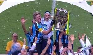 Grêmio comemora o pentacampeonato da Copa do Brasil