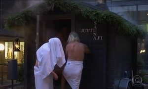Sauna gratuita é tradição de Natal na Finlândia