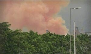 Explosão em galpão assusta moradores da Baixada Santista