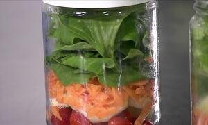 Veja dicas para preparar salada no pote