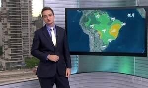 Veja a previsão do tempo para esta segunda-feira (9) em todo o Brasil
