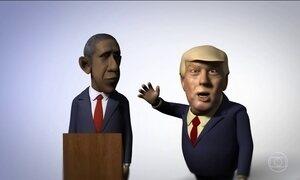 Obama e Trump na transição da presidência americana