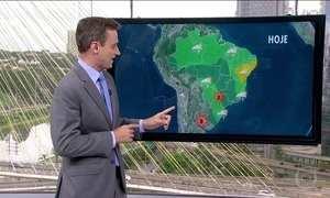 Previsão é de chuva nas próximas duas semanas na região central do Brasil