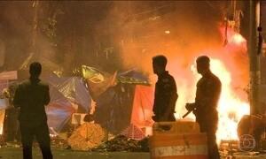 Moradores da Cracolândia de São Paulo causam confusão no local
