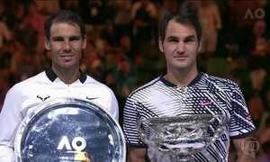 Roger Federer derrota Rafael Nadal em incrível final do Aberto da Austrália