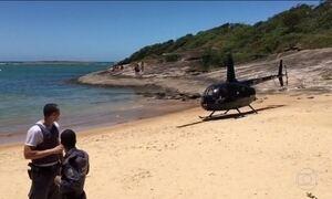 Vereador é preso após pousar helicóptero em praia do ES
