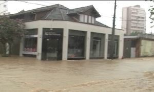 Previsão é de que continue chovendo até sexta-feira (3) em Santa Catarina