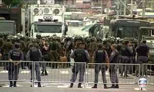 Exército faz varredura em cadeia pública no Centro de Manaus