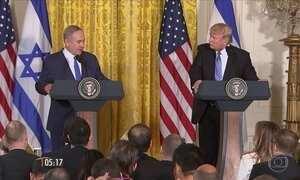Donald Trump promete acordo de paz entre israelenses e palestinos