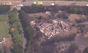 Incêndio florestal destrói onze casas na Nova Zelândia