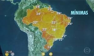 Confira a previsão do tempo para a terça-feira (22)