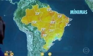 Confira a previsão do tempo para a quarta-feira (22)