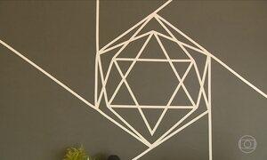 Técnica usa fitas adesivas para decorar vários ambientes