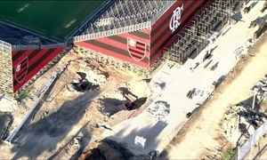 Arena da Ilha, novo estádio do Flamengo no Rio, tem buraco entre arquibancadas