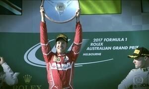 Vettel vence duelo contra Hamilton no GP do Bahrein de F-1 e lidera campeonato