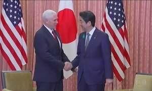 Mike Pence chega ao Japão em meio a clima de guerra por causa da Coreia do Norte