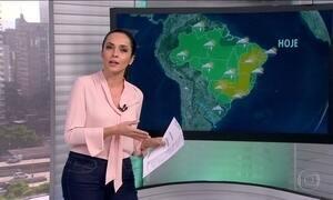 Veja a previsão do tempo para esta terça (25) em todo o Brasil