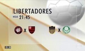Quatro clubes brasileiros entram em campo pela Libertadores