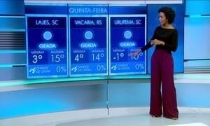 Confira a previsão do tempo para a quinta-feira (27) em todo o país