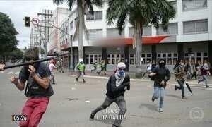 Manifestante agredido por PM durante protestos em GO está em estado grave