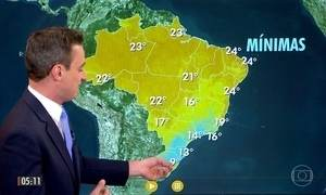 Previsão é de chuva para Norte e Nordeste do país
