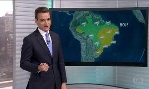 Veja a previsão do tempo para esta segunda (1) em todo Brasil