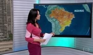 Previsão de pancadas de chuva para o Sul e Sudeste