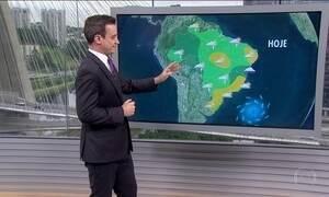 Chuva continua mais concentrada na região Norte do Brasil