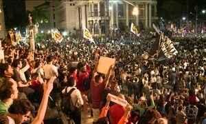 Protesto contra Michel Temer no Rio acaba em confusão
