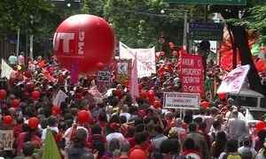 Manifestantes fazem protestos contra Temer em 19 estados e no DF