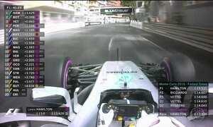 Hamilton, da Mercedes, é destaque em treino para GP de Mônaco de F-1