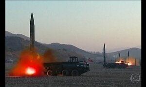 Coreia do Norte dispara mais um míssil