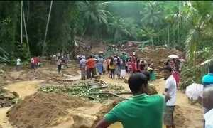 Sobe para 169 o número de mortos por causa da chuva no Sri Lanka