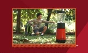 Luminária japonesa usa água e sal para gerar eletricidade