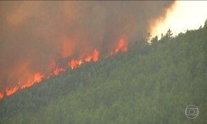 Bombeiros continuam no combate ao incêndio que já deixou mais de 60 mortos em Portugal