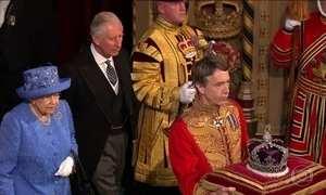 Rainha Elizabeth faz discurso no parlamento britânico para abrir o ano legislativo
